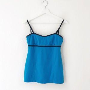 Lululemon Blue Black Trim Shelf Bra Tank Top